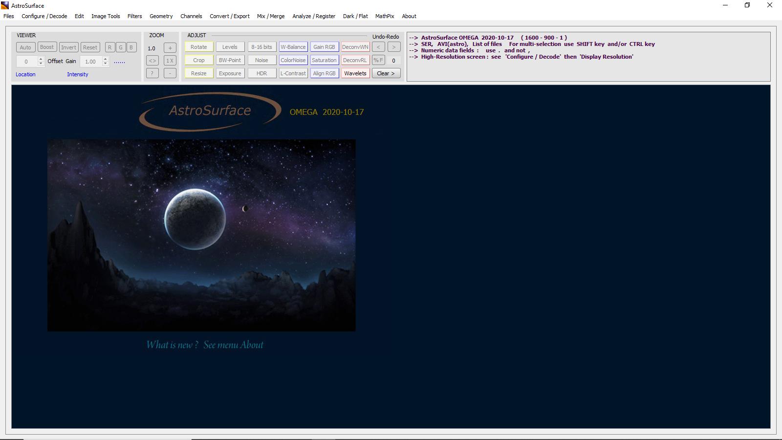 Tutorial nuovo programma di elaborazione Astrosurface